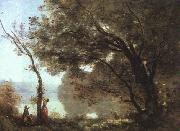 Jean Baptiste Camille  Corot Souvenier de Mortefontaine, salon of 1864 oil painting