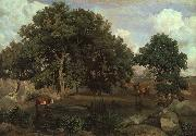 Jean Baptiste Camille  Corot Forest of Fontainebleau oil painting