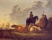 Aelbert Cuyp Cattle with Horseman and Peasants China oil painting reproduction