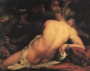 Annibale Carracci Venus with Satyr and Cupid China oil painting reproduction