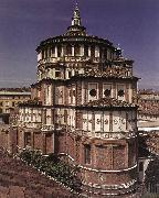BRAMANTE Exterior of the church dfg oil painting reproduction