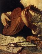 Caravaggio Lute Player (detail) gg oil painting reproduction