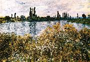 Claude Monet By the Seine near Vetheuil oil painting reproduction