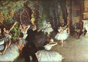 Edgar Degas Rehearsal on the Stage China oil painting reproduction