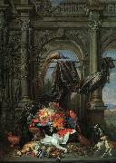Erasmus Quellinus Still Life in an Architectural Setting oil painting