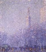 F Usher De Voll Madison Square oil painting
