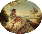 Franz Xaver Winterhalter Queen Victoria with Prince Arthur oil painting reproduction