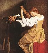 GENTILESCHI, Orazio Lute Player  eryy oil painting reproduction