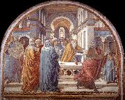 GOZZOLI, Benozzo Expulsion of Joachim from the Temple g oil painting reproduction