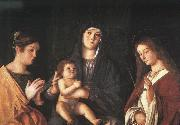 Giovanni Bellini The Virgin and the Child with Two Saints China oil painting reproduction