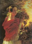 Ivan Khrutsky Young Woman with a Basket oil painting