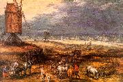 Jan Brueghel Landscape with Windmills China oil painting reproduction