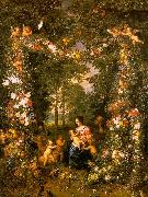 Jan Brueghel Holy Family in a Flower Fruit Wreath China oil painting reproduction