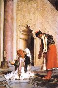 Jean Leon Gerome Young Greeks at the Mosque China oil painting reproduction