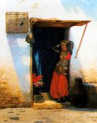Jean Leon Gerome Woman of Cairo at her Door China oil painting reproduction