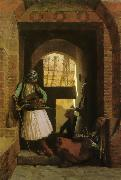 Jean Leon Gerome Arnauts of Cairo at the Gate of Bab-el-Nasr China oil painting reproduction