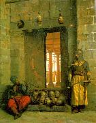 Jean Leon Gerome Heads of the Rebel Beys at the Mosque of El Hasanein China oil painting reproduction