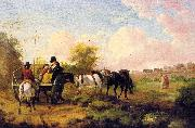 Julius Caesar Ibbetson Going to Market oil painting