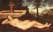 Lucas  Cranach Nymph of Spring oil painting reproduction