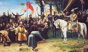 Mihaly Munkacsy The Conquest of Hungary oil painting