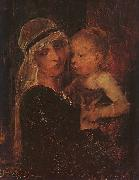 Mihaly Munkacsy Mother and Child oil painting