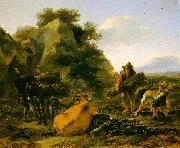 Nicholaes Berchem Landscape with Herdsmen Gathering Sticks China oil painting reproduction