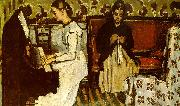 Paul Cezanne Girl at the Piano China oil painting reproduction