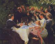 Peter Severin Kroyer Hip Hip Hooray oil painting