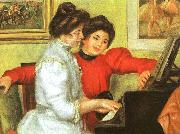 Pierre Renoir Yvonne and Christine Lerolle Playing the Piano oil painting reproduction