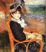 Pierre Renoir By the Seashore oil painting reproduction