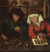 Quentin Massys The Moneylender and his Wife oil painting