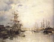 Stanislas lepine The Port of Caen oil painting