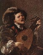 TERBRUGGHEN, Hendrick Lute Player awr oil painting reproduction