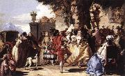 TIEPOLO, Giovanni Domenico Ball in the Country sg oil painting