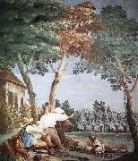 TIEPOLO, Giovanni Domenico Peasants at Rest r oil painting