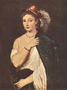 TIZIANO Vecellio Portrait of a Young Woman r oil painting