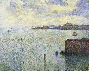 Theo Van Rysselberghe Sailboats and Estuary oil painting