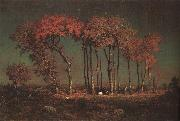 Theodore Rousseau Under the Birches oil painting