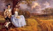 Thomas Gainsborough Mr and Mrs Andrews oil painting