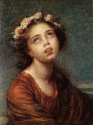 VIGEE-LEBRUN, Elisabeth The Daughter's Portrait   RT oil painting