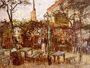 Vincent Van Gogh Terrace of the Cafe on Montmartre oil painting