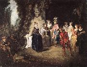 WATTEAU, Antoine The French Comedy oil painting