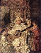 WATTEAU, Antoine Gilles and his Family oil painting