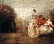 WATTEAU, Antoine Two Cousins oil painting