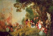 WATTEAU, Antoine Pilgrimage to Cythera1 oil painting