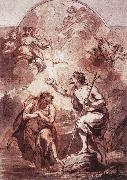 WIT, Jacob de Baptism of Christ in the Jordan oil painting