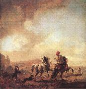 WOUWERMAN, Philips Two Horses er oil painting