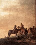 WOUWERMAN, Philips Rider's Rest Place q4r oil painting