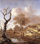 WYNANTS, Jan A Hilly Landscape wer oil painting