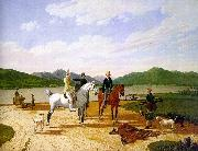 Wilhelm von Kobell Hunting Party on Lake Tegernsee oil painting